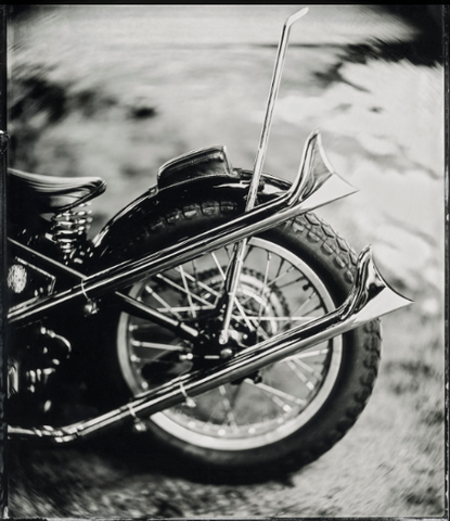 """Fish tails pipes Chopper"" - Série ART OF RIDE - Photographie de Bernard Testemale"