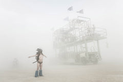 "Série Burning Man - ""Blue bots"" photographie d'Éric Bouvet"