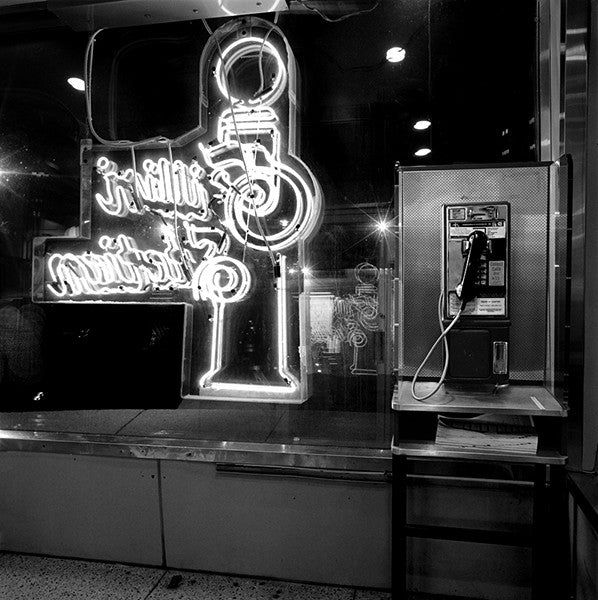"Série Attractions Américaines ""Phone Booth at the diner"" photographie de Nicolas Auvray"