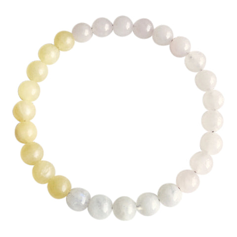 Moonstone, Rose Quartz & Yellow Calcite