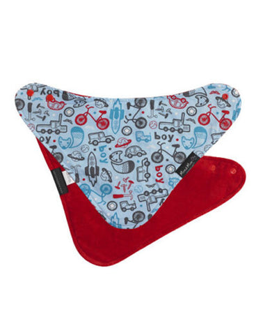 Mum2Mum Reversible Fashion Bandana Dribble Bib - Boy Print