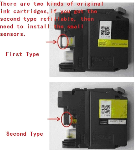 Extra Black Plastic Piece for Sensor on Brother Refillable LC223 LC225 LC227 Cartridges