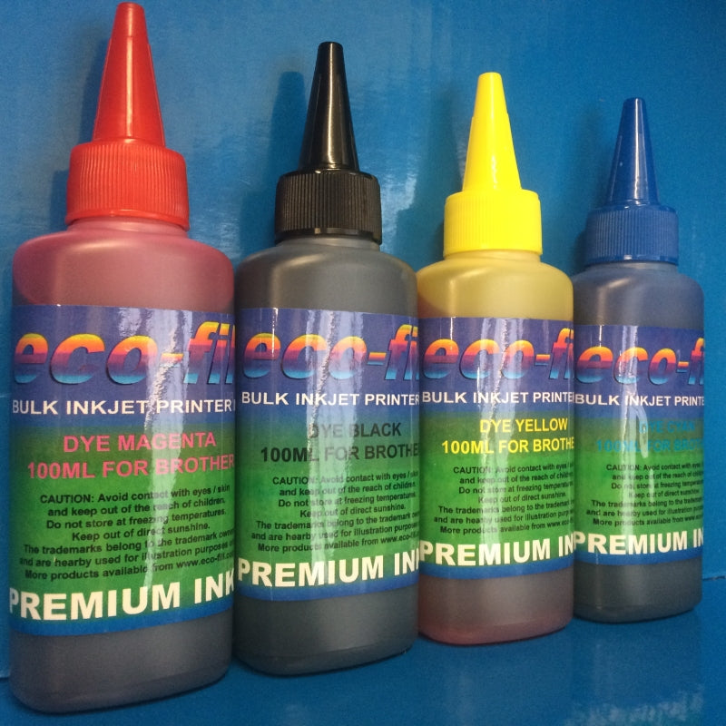 New Eco-Fill Brand Bulk Refill Ink for Brother Canon Epson & HP Printers.
