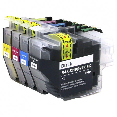 Brother LC 3217 3219 XL Refillable Compatible Ink Cartridges Generic Replacement