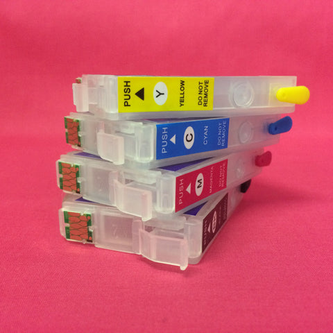 Refillable Cartridges for Epson 29 T2991 T2992 T2993 T2994 Strawberry
