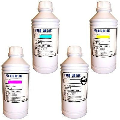 4 Litre Bottles Non OEM Refill Printer Ink EPSON Black/Cyan/Mg/Yw CISS Universal