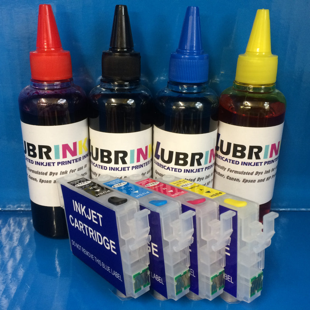 400ml LUBRINK INK REFILLABLE CARTRIDGES 27XL EPSON WORKFORCE 7110DTW 7610DWF NON OEM