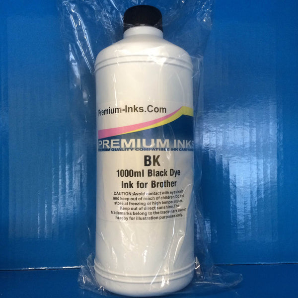 LITRE BLACK BOTTLE DYE REFILL PRINTER INK FOR REFILLING BROTHER CARTRIDGES Non OEM