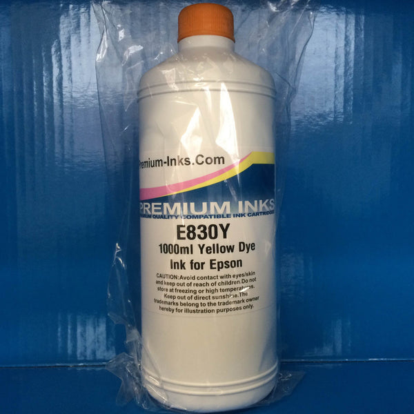 1 Litre Bottle Refill Printer Ink for EPSON Cartridges YELLOW Non OEM