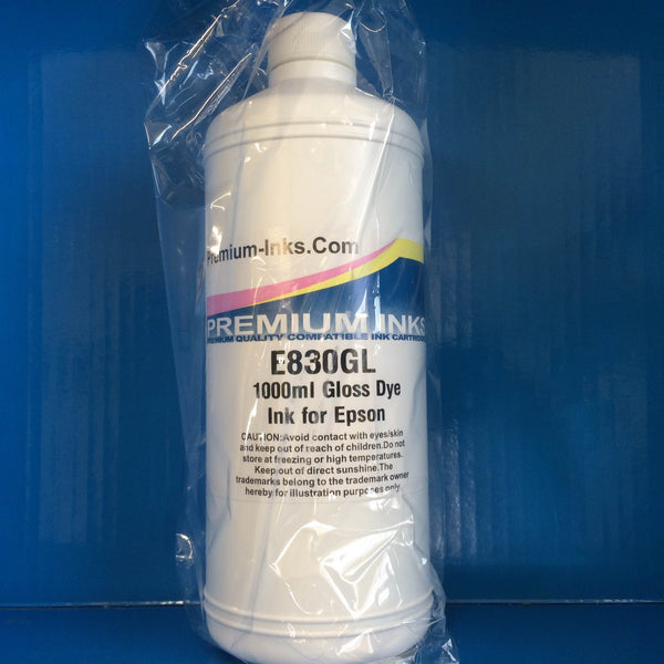 1 Litre GLOSS OPTIMIZER OPTIMISER Refill Ink Bottle for EPSON Cartridges Non OEM