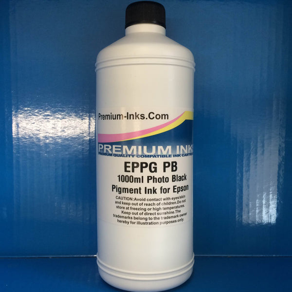 LITRE PHOTO BLACK PB PBK 1000ml PIGMENT REFILL INK EPSON PHOTO PRINTERS NON OEM