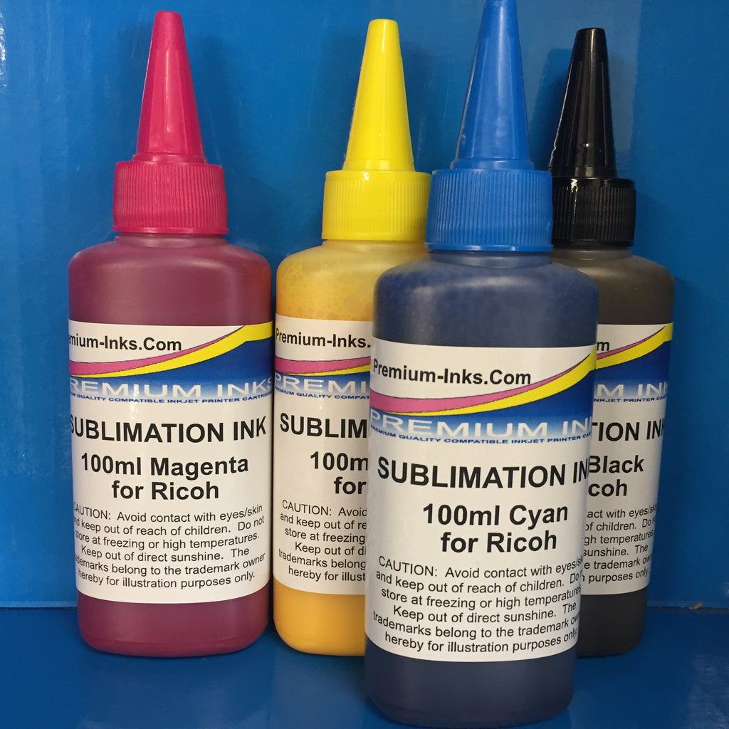 100ml Bottles Sublimation Refill Ink Formulated for Ricoh SG2100N SG3100 SG3110DN GC-41