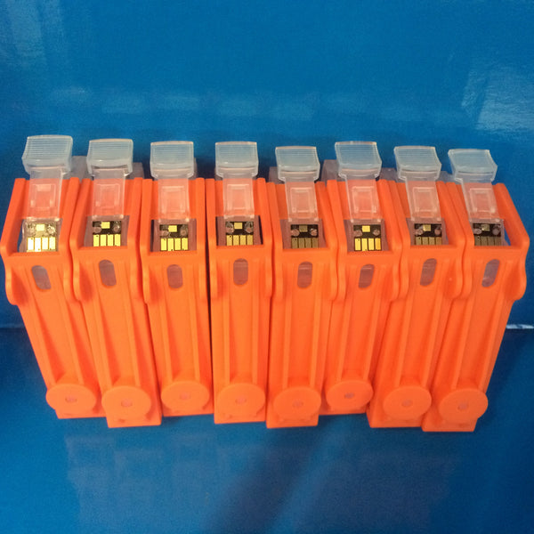 8 REFILLABLE CARTRIDGES + 800ml DYE REFILL INK FOR CANON Pro 9000 Mk II CLI-8 BK/C/M/Y/PC/PM/R/G
