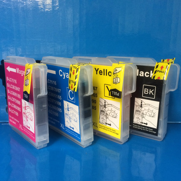 LC980 LC985 LC1100 BROTHER INK CARTRIDGES Non OEM