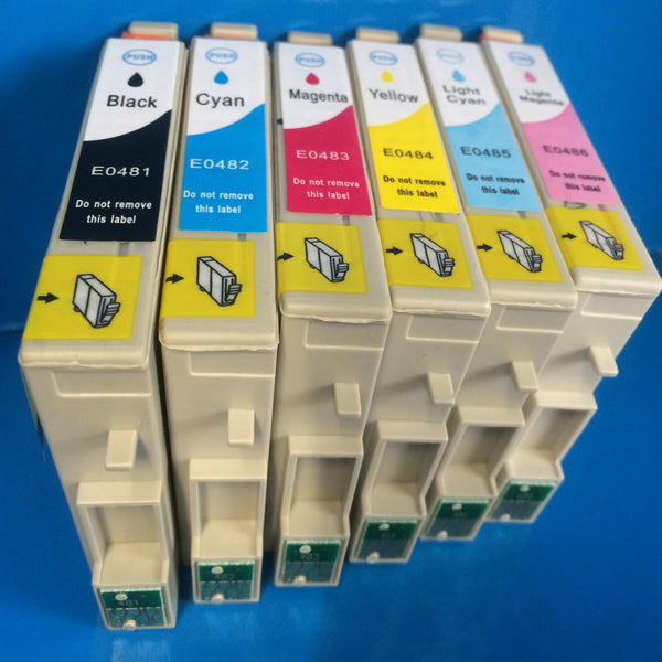 T0481-6 INK CARTRIDGES FOR EPSON STYLUS PHOTO R200 R220 R320 etc. Non OEM