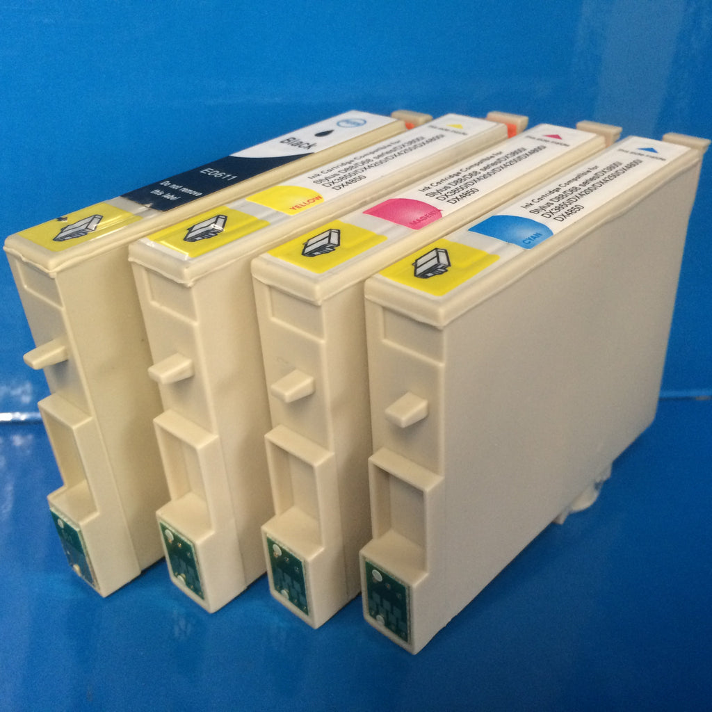T0611-4 INK CARTRIDGES FOR EPSON STYLUS D68 D88 DX4800 ETC. Non OEM