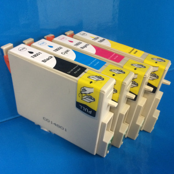 T0551-4 INK CARTRIDGES FOR EPSON STYLUS RX425 R240 ETC. Non OEM