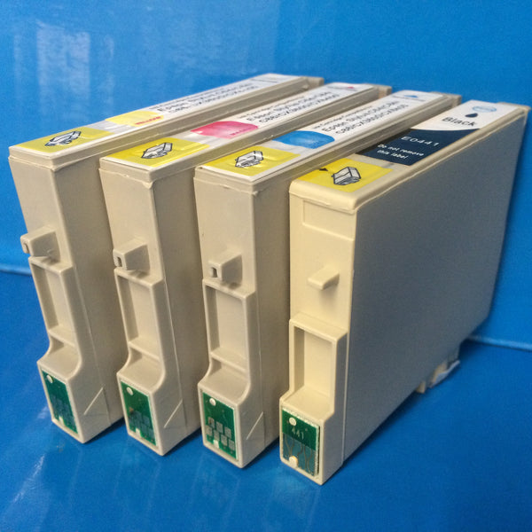 T0441-4 INK CARTRIDGES FOR EPSON STYLUS C66 CX3600 ETC. Non OEM