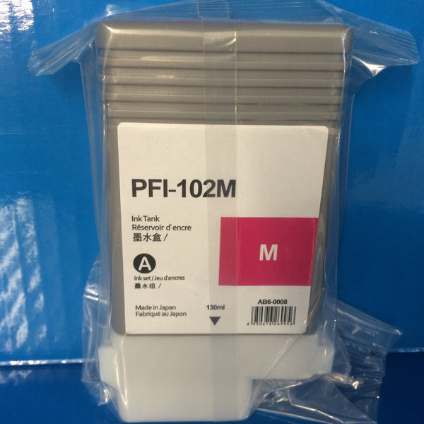 CANON PFI-102 MBK/C/M/Y/BK INK CARTRIDGES FOR IPF500 IPF600 IPF605 IPF610 IPF650 IPF655 PRINTER NON OEM