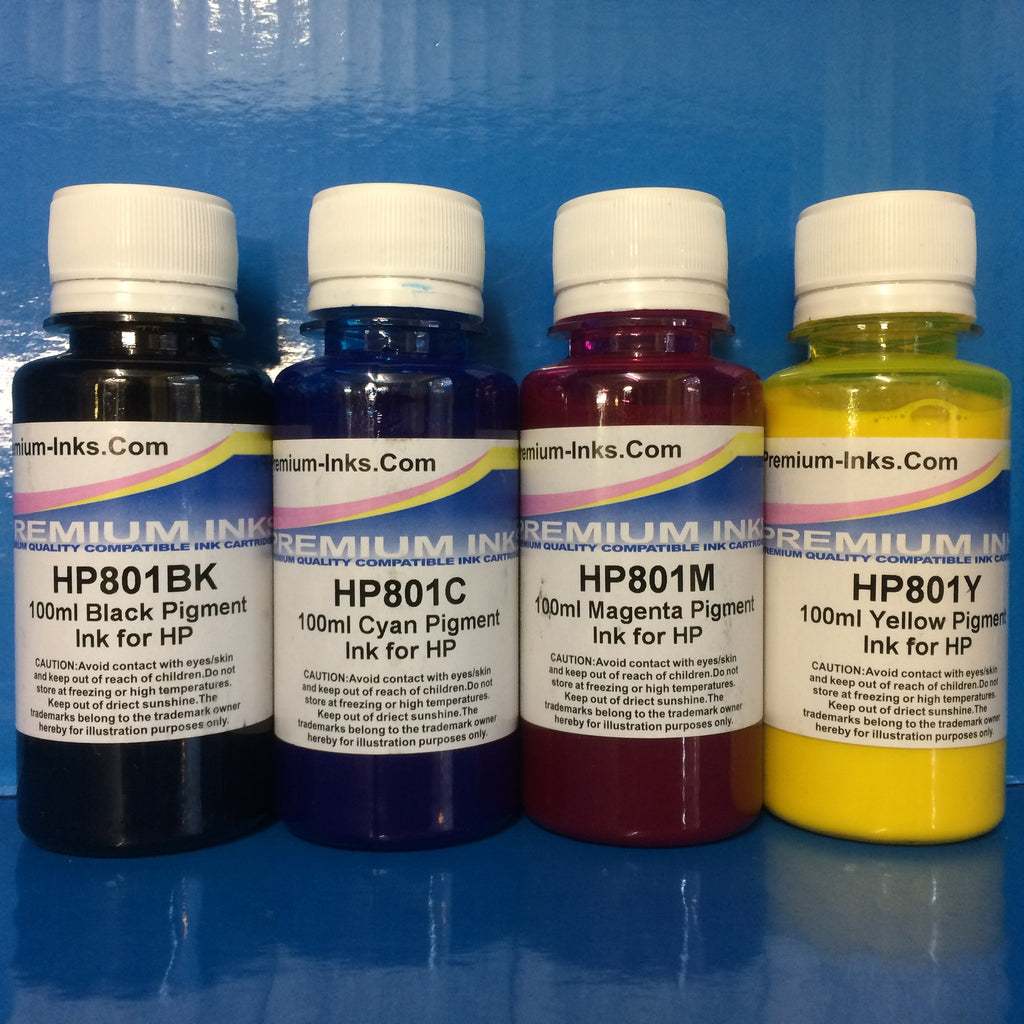 PIGMENT PRINTER REFILL INK FOR HP INKJET PRINTERS Non OEM
