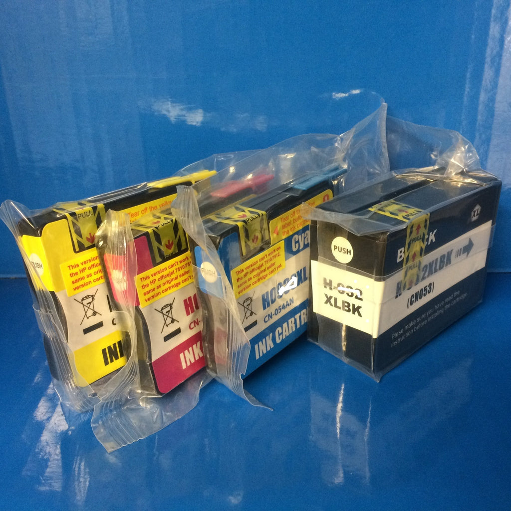 HP 932xl / 933xl INKJET CARTRIDGES WITH CHIPS.  NOT MADE BY HP.