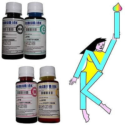 4 X 100ML BULK REFILL INK BOTTLES BROTHER DCP J4110DW J 4110DW J4110 DW