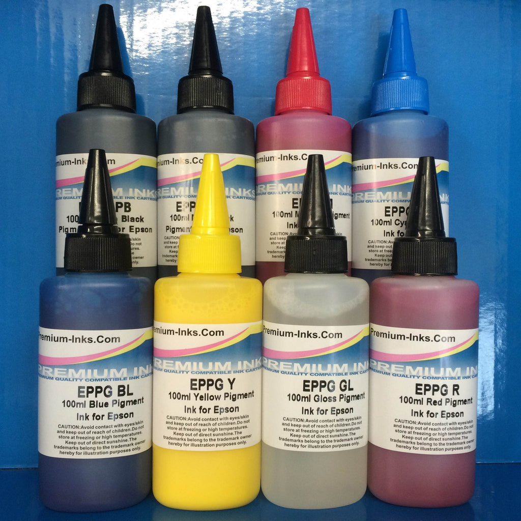 800ML PIGMENT CISS REFILL PRINTER INK EPSON STYLUS PHOTO R800 R1800 NON OEM