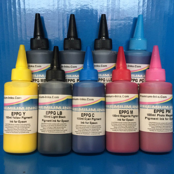 900ml Non OEM Compatible PIGMENT REFILL INK FOR EPSON STYLUS PHOTO R2400 PRINTER