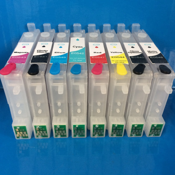 R800 R1800 REFILLABLE CARTRIDGES TO REPLACE EPSON T0540/1/2/3/4/7/8/9 Non OEM