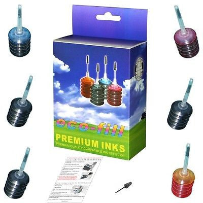 6 CANON PIXMA MG 2100 3100 4100 PG 540 CL 541 XL INK CARTRIDGE REFILL KIT BK/COL