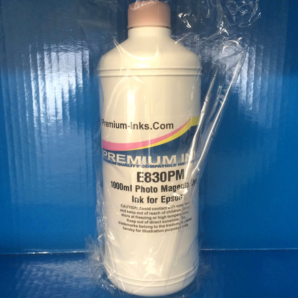 1 Litre Bottle Refill Printer Ink for EPSON LIGHT/PHOTO MAGENTA Non OEM