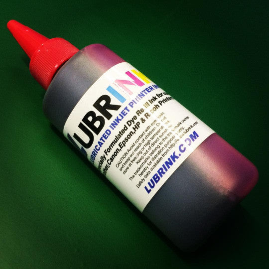 MAGENTA 4 x 100ml LUBRINK LUBRICATED INKJET PRINTER INK FOR BROTHER, CANON, EPSON, HP, RICOH