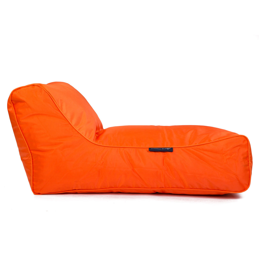Orange Chaise Lounge | Bean Bag Sofa | outdoor Bean Bag | Ambient Lounge