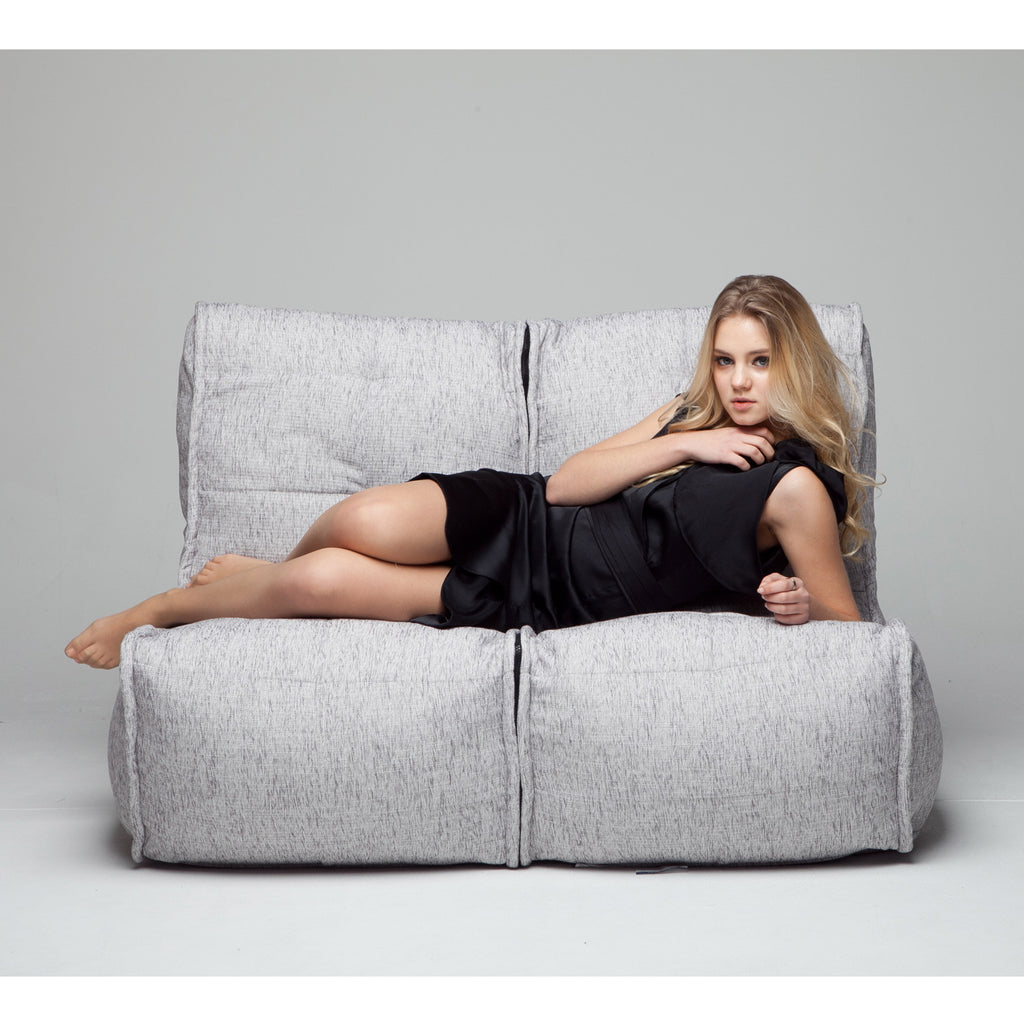 Cool 2 Seater Soft Grey Sofa Designer Bean Bag Couch Beanbag Andrewgaddart Wooden Chair Designs For Living Room Andrewgaddartcom