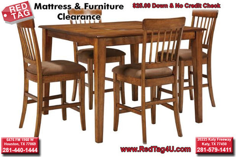 Ashley Berringer 5 Piece Counter Height Table Set (199)