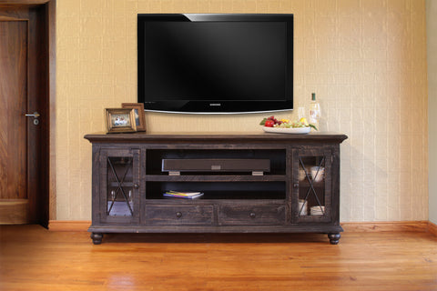 "Vintage Black 76"" TV Stand (IFD973Stand-76)"