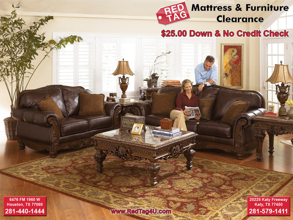 Ashley Northshore Sofa And Loveseat Red Tag Mattress And - Red tag furniture