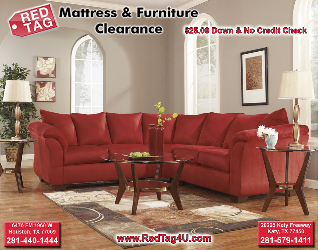 Ashley Darcy Sectional Red Tag Mattress And Furniture - Red tag furniture