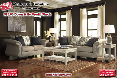 Ashley Jonette Sofa and Loveseat