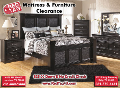 Ashley Cavallino Black 4 Post Queen Bed (B291)