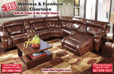 Ashley Top Grain Leather Sectional all Power Elemen (U992)