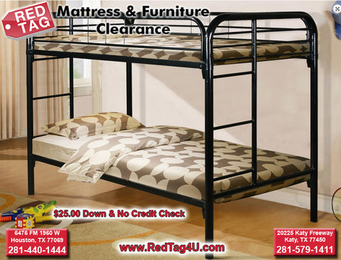 Donco Twin over Twin Metal Bunkbed