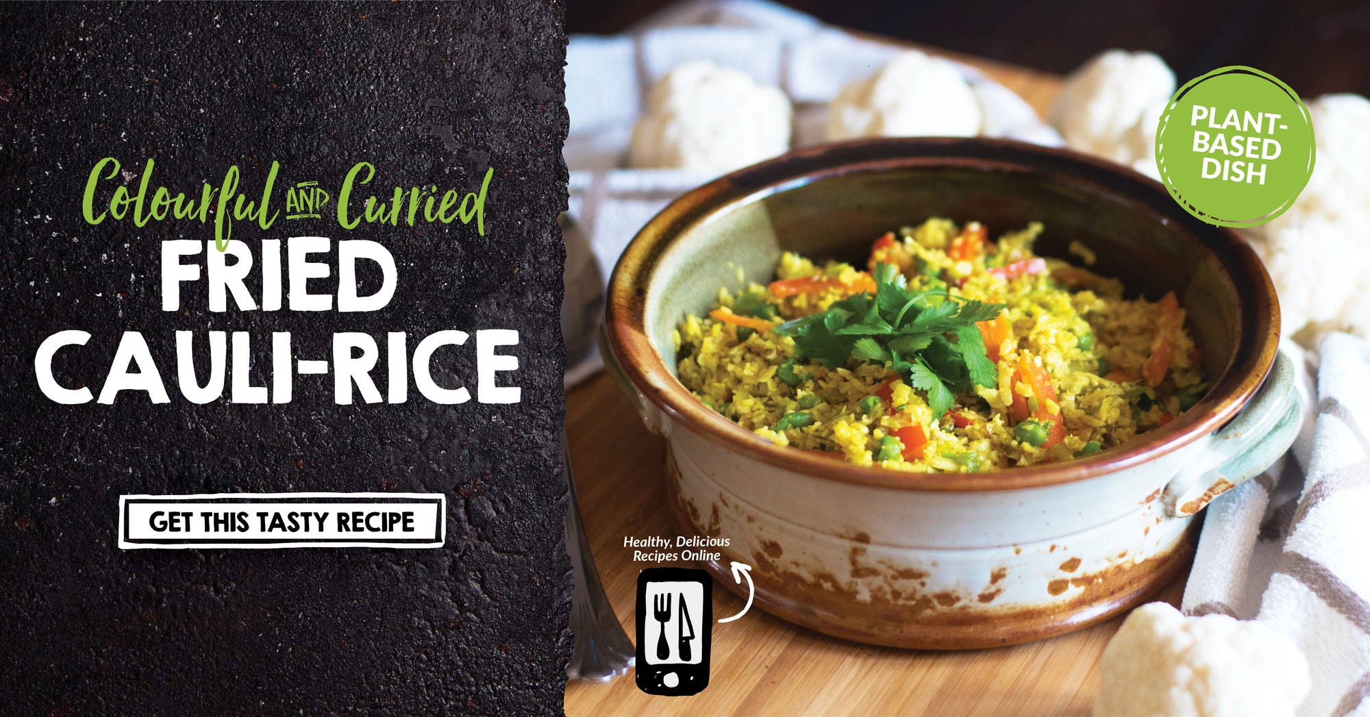 Vegan Curried Cauli-rice