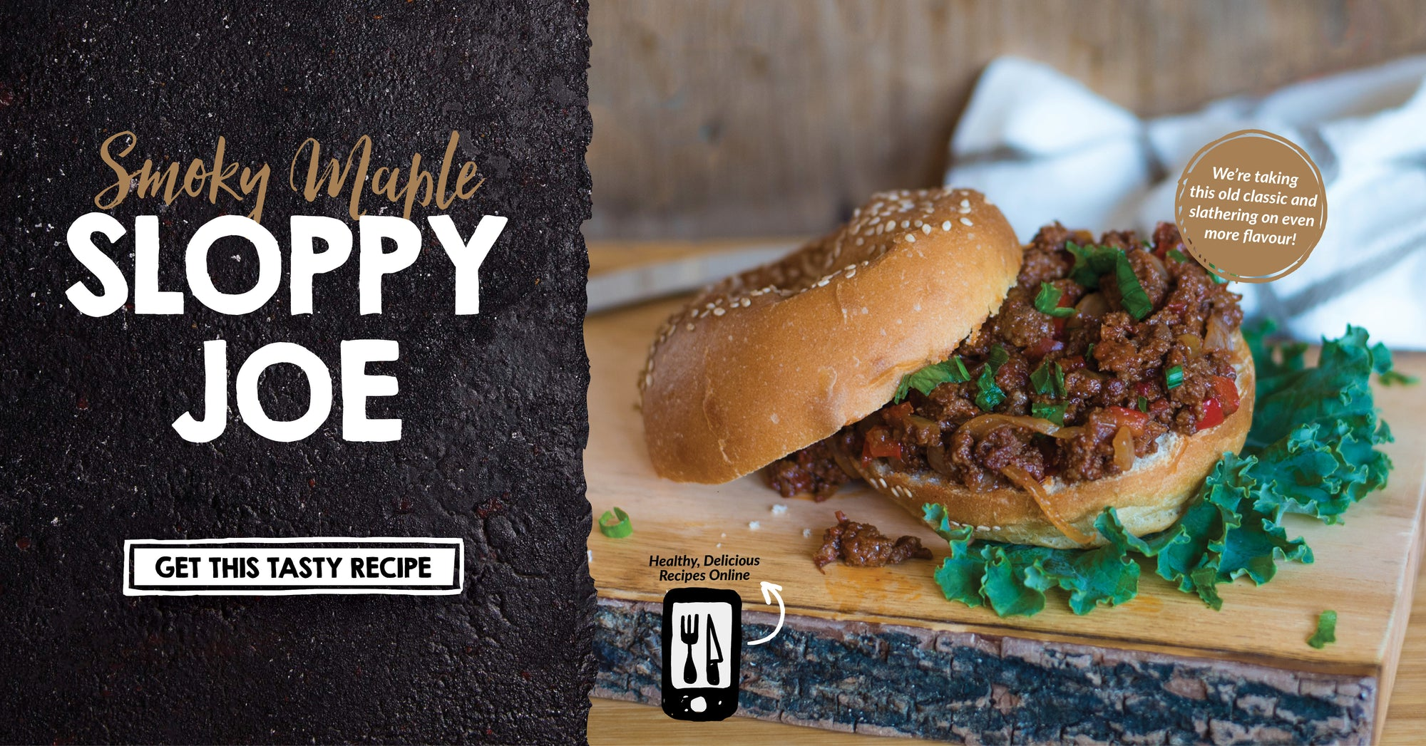 Smokey Maple Sloppy Joe