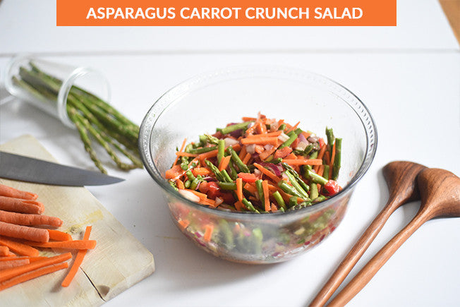 Asparagus Carrot Crunch Salad with Apple Cider Vinegar Dressing
