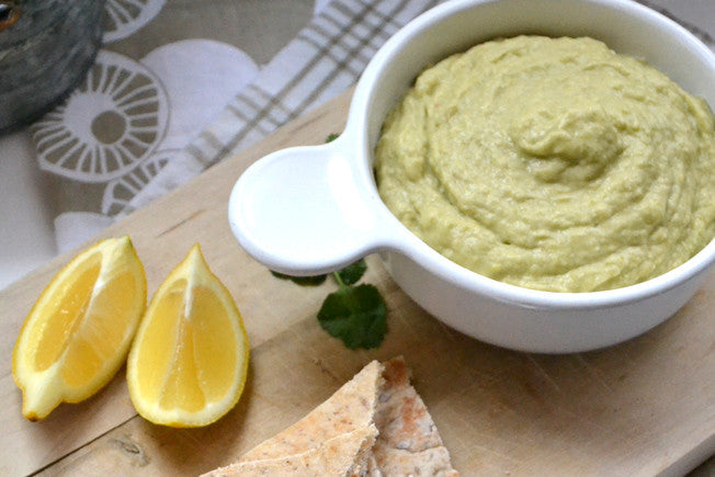 One-Step Asparagus & White Bean Hummus