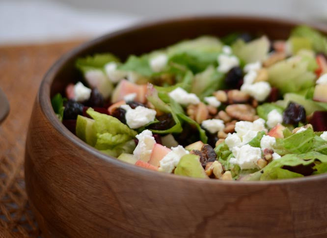 Apple, Pear & Beet Harvest Salad with Goat Cheese