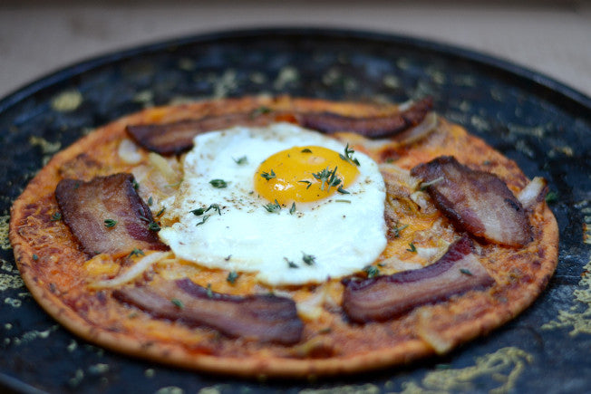 Bacon & Egg Breakfast Pizza with Salsa