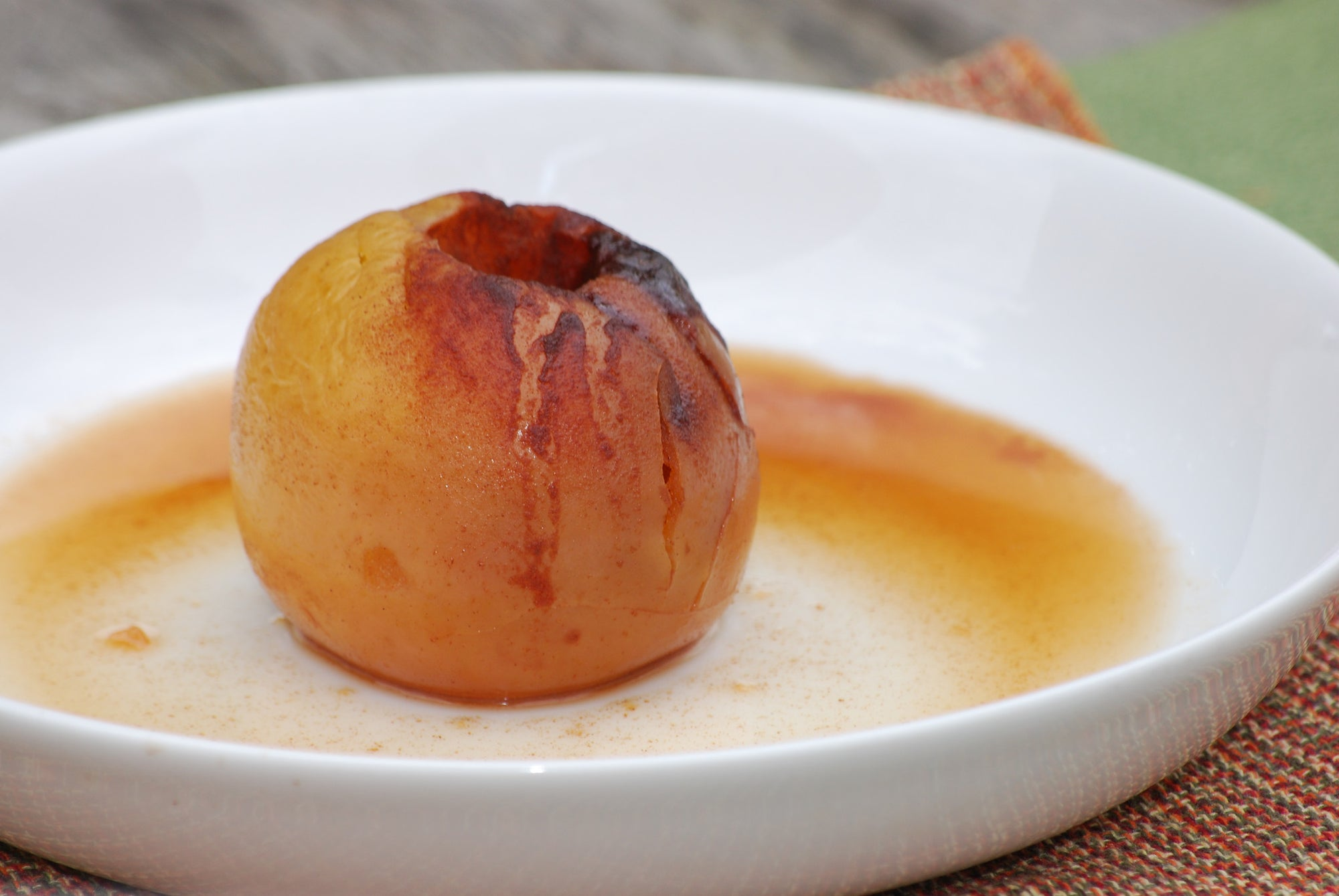 Oven Baked Organic Apple with Cinnamon