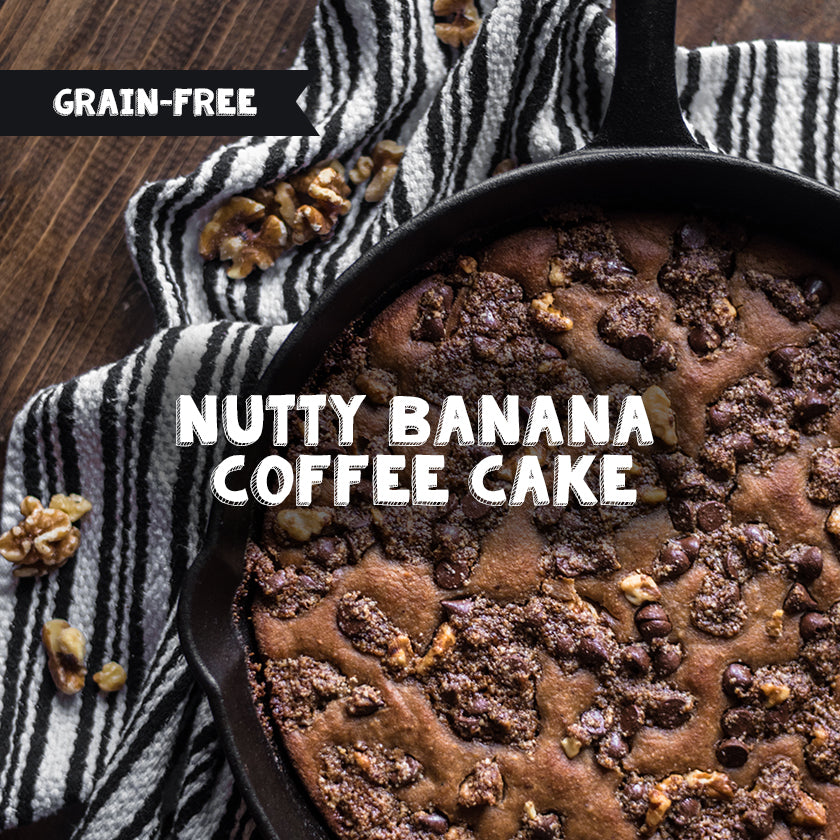 Grain-Free Nutty Banana Coffee Cake